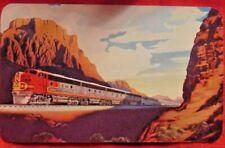 RAILROAD CALENDAR POCKET SANTA FE 1952