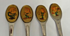 Four Vintage Tetley Tea Spoons The Gaffer Authentic Great Britain 1996