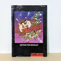 Taz-Mania SNES Super Nintendo Instruction Booklet Manual