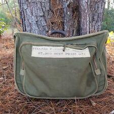 Air Force U. S. Army WW1 Military Issue Garment Bag Luggage Canvas Leather