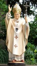 Ivan 2. Papst Johannes Paul 2, Pope John 2. woodcarving, holzgeschnitzt