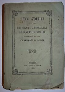 BERGAMO - ediz 1855 - SANTI DI BERGAMO - raro