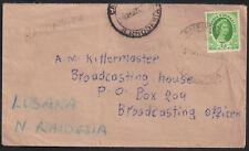 Rhodesia & Nyasaland 1954 Cover 2d sg 3 RAFFINGORA 1955