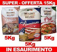 Farina Americana Manitoba Integrale  tipo 0 00 per da Pizza Pane Dolci 15 Kg
