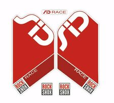 Rock Shox SID Race  Mountain Bike Cycling Factory Style Decal Kit Sticker Red