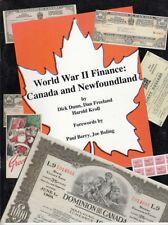 World War II Finance Canada and Newfoundland War Loan Bonds Certificates New