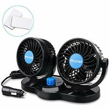 Cooling Fans Upgrade 360 Rotating Free Adjustment Dual Head Car Auto Air Quiet 2