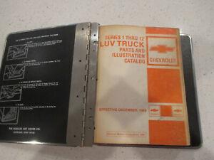 CHEVY LUV TRUCK GM GENERAL MOTORS DEALER PARTS CATALOG BOOK SERIES 1-THRU 12