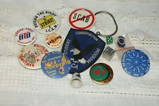 Collectable Metal Buttons & Other Misc Items From Office Desk Drawer