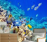 3D Self-adhesive Wall Mural Photo Wallpaper Sea World View Kid's Bedroom Decor