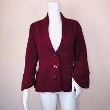 Alfani Large Sweater Jacket NEW Wine Peplum Button Up $79