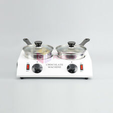 New Double Chocolate Melting Pot Electric Fondue Candy Melter Heating Machine