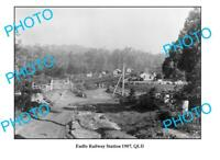 OLD 6x4 PHOTO QLD EUDLO RAILWAY STATION c1907