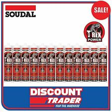 Soudal T-Rex Power Fast Grab SMX Polymer Sealant Adhesive Black 1 Box 118416x12