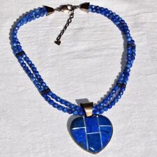 Lapis Lazuli DTR Mine Finds by Jay King 925 Sterling Silver Heart Necklace
