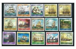 Papua New Guinea 1987 Ships Set of 15 Stamps All Mint Unhinged (6-15)