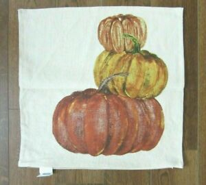 "POTTERY BARN Market  Pumpkins PILLOW COVER ~ 20"" x 20""  NEW ~ HAPPY FALL!"