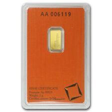 XMAS - 1 GRAM - PURE GOLD BAR - VALCAMBI SUISSE - SEALED ASSAY CARD - $9.99 -BID