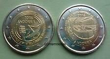 Andorra 2x 2 Euro Gedenkmünzen 2016 Rundfunk + Reform commemorative coins