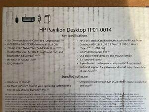 HP - Pavilion Desktop - Intel Core i3 - 8GB Memory - 256GB Solid State Drive ...