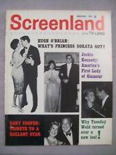SCREENLAND MAGAZINE SEPTEMBER 1961 HUGH OBRIAN PRINCESS SORAYA GARY COOPER