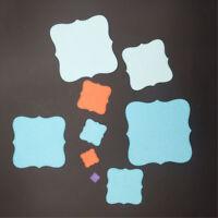 9pcs square metal cutting dies stencil scrapbook album paper embossing craft RF