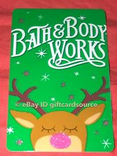 """BATH & BODY WORKS GIFT CARD """"RUDOLPH RED GLITTER NOSE"""" HOLIDAY 2018 NO VALUE NEW"""