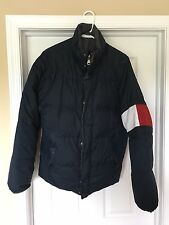Vintage Tommy Hilfiger Puffer Vest Bubble Down Feather Jacket Patch Flag Logo