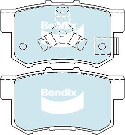 Brake Disc Pad Set Rear Bendix DB1728 GCT For HONDA ACCORD CR-V TOYOTA REGIUS