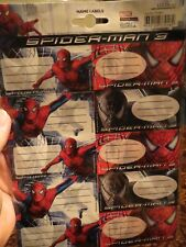 Spiderman 3 Name Labels