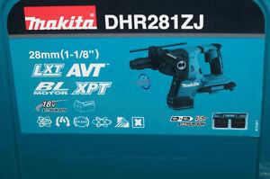 Makita DHR281ZJ Akku Bohrhammer 36V Brushless SDS Plus + Schnellwechselfutter