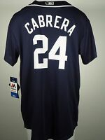 Detroit Tigers Miguel Cabrera #24 MLB Majestic Youth Size Cool Base Jersey New