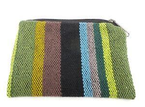Stripe Coin Purse Bag Pouch Credit Card ID Holder Wallet Hippie 100% Cotton NWT