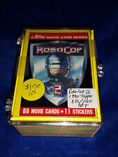 Robo Cop 2 - 1990 Topps 88 Cards/11 Robocop Stickers Set