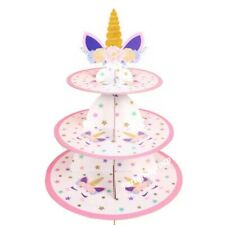 3 Tier Premium Unicorn Cupcake Stand Party Cup Cake Stand Party Tableware