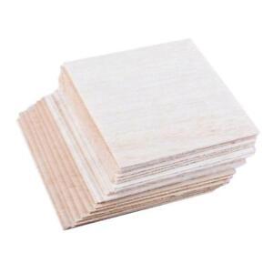 DIY Modell Material Balsa Holzplatten 100mm x 100mm x 1mm 20 Stück