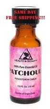 Patchouli Essential Oil by H&B Oils Center Aromatherapy Glass Bott 0.5 Oz, 15 ml