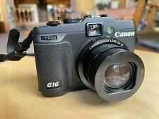 Canon PowerShot G16 12.1MP Digital Camera - Black, w/3 batteries