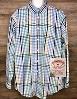 Brooks Brothers Men's Multi-Color Supima Cotton Non-Iron Long Sleeve Shirt XL