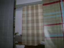 "Shower Curtain or liner 70""x72"" Beige Noelle Plaid PEVA Comfort Bay C17"