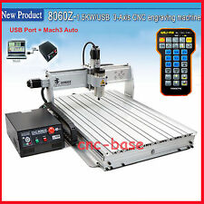 USB Port Mach3 8060 2200W cnc router engraver engraving machine  remote handle