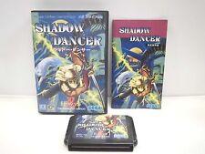 Mega-Drive Genesis -- SHADOW DANCER Shinobi -- Box. JAPAN. Work fully!! 11491