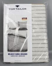 Tom Tailor Flanell Wende- Bettwäsche 155x220cm 80x80 Kissen Bettgarnitur K13-TT
