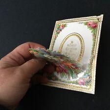 Carte Noël XIXè Victorian Pop Up Christmas Card 19thC Scrap Oblaten Glanzbild