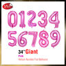 "34"" Giant Foil Number Air Helium Glitz Large Balloons Birthday Party Wedding"