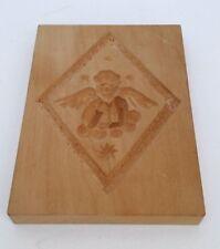 altes Holz Model Springerle Spekulatius Engel 14 x 10 x 1,5 cm