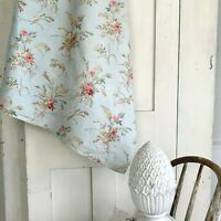 Antique Shabby Chic pale blue fabric material 19th century french country look