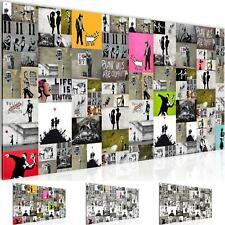 WANDBILDER BILDER Collage Banksy Street Art VLIES LEINWAND KUNSTDRUCK Wohnzimmer