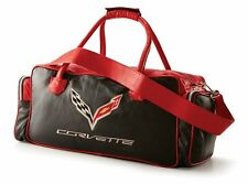 C7 Corvette Black and Red Leather Duffle Bag
