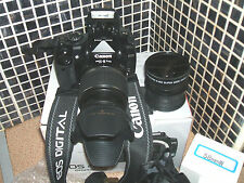 Canon Eos 400D/10.1 MP Digital SLR-con Kit de Lente de tres Semi-pro..